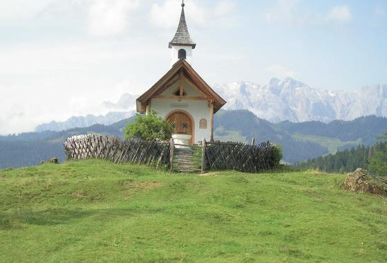 chapel at the salzburger almenweg