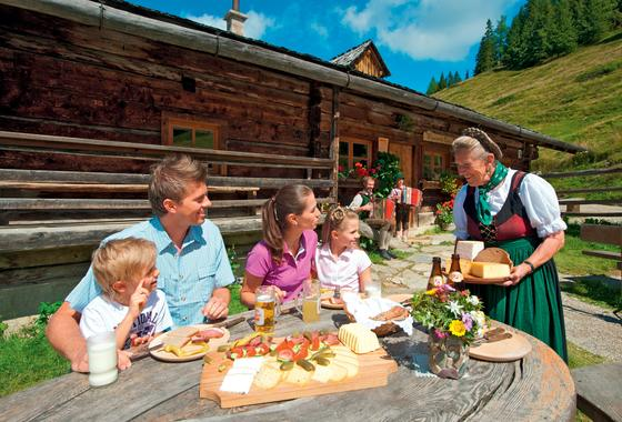 family snack alpine hut