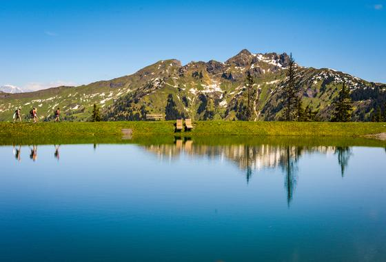 mountain paradise at the lake dorfgastein