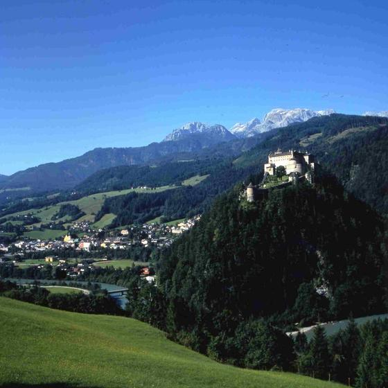 castle werfen on a hill
